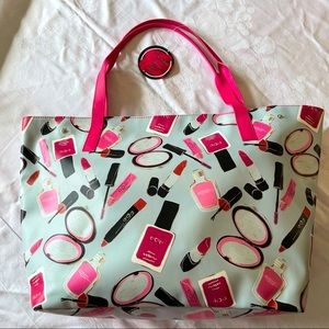 Marvellous Make Up Tote Pink/Grey NWT
